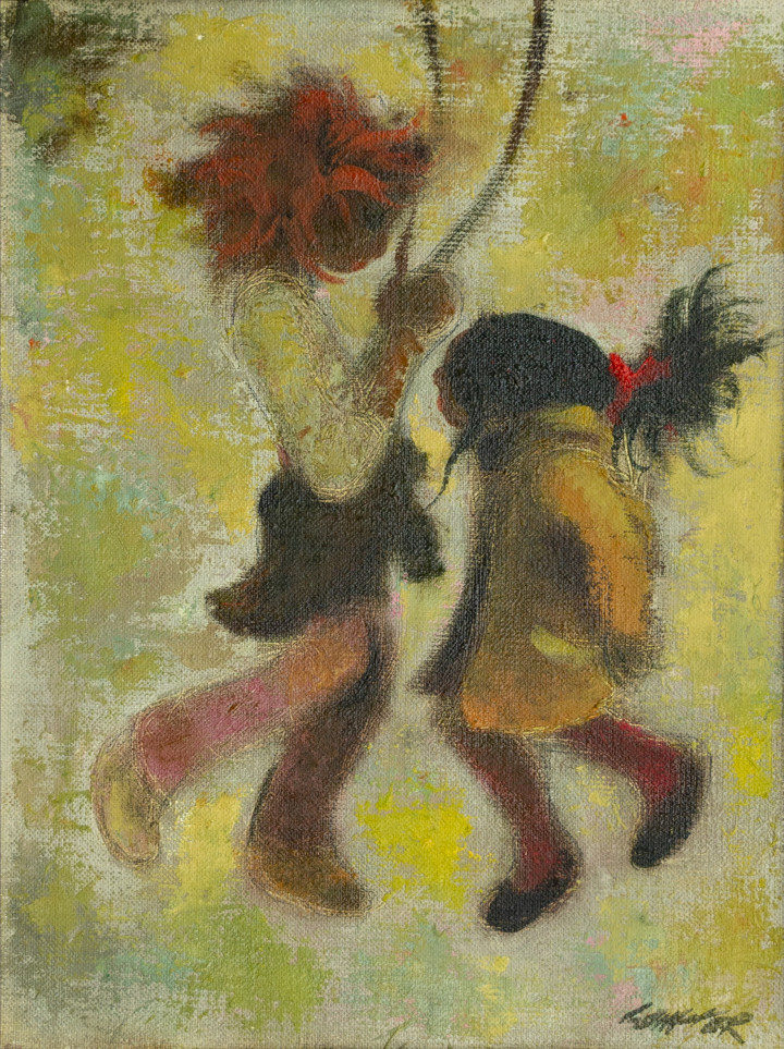 William Winter Skipping, 1981 Oil on panel - Huile sur panneau 16 x 12 in 40.6 x 30.5 cm