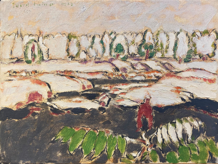 David Milne Channels (Six Mile Lake, Muskoka, Ontario), 1935 Oil on canvas 18 x 24 in 45.7 x 61 cm This work is included in the David B. Milne Catalogue Raisonne of the Paintings compiled by David Milne Jr. and David P. Silcox, Vol. 2, no. 304.31.