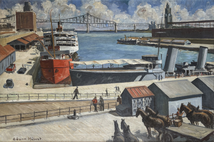 Adrien Hébert Montreal Harbour, 1929 Oil on canvas 23 x 34 in 58.4 x 86.4 cm