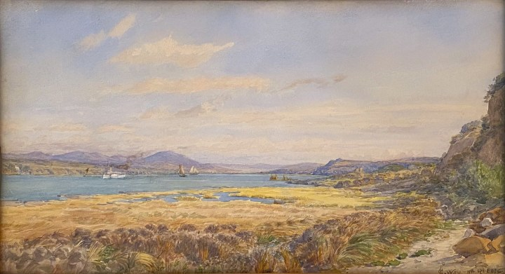 Charles Jones Way Looking Down the St. Lawrence River from Levis, 1899 (circa) Watercolour 11 x 20 1/4 in 27.9 x 51.4 cm