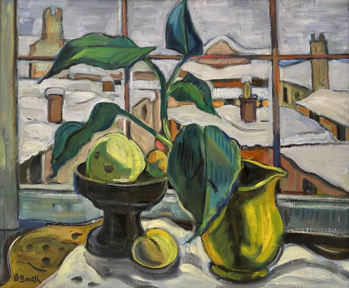 Ethel Seath Still Life from Seaforth Ave. Oil on canvas 20 x 24 in 50.8 x 61 cm