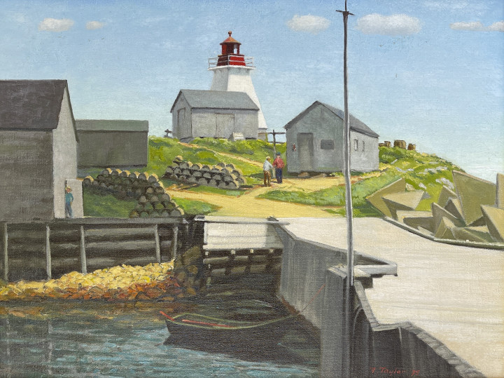 Frederick B. Taylor At Neil's Harbour, Cape Breton, N.S., 1975 Oil on canvas 18 x 24 in 45.7 x 61 cm