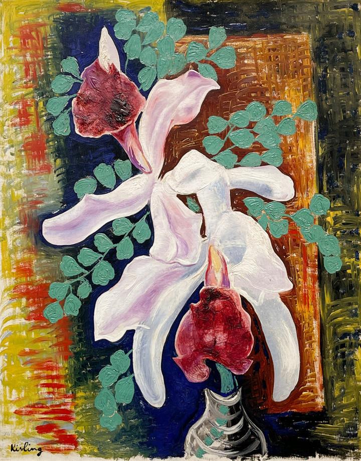 Moise Kisling, Les orchidées, 1930