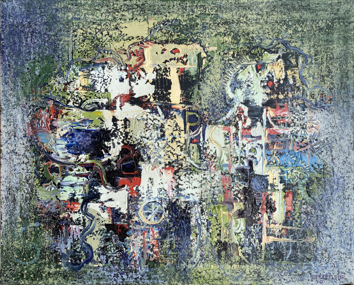 Léon Bellefleur Les Saltimbanques, 1970 Oil on canvas - Huile sur toile 25 5/8 x 31 7/8 in 65 x 81 cm