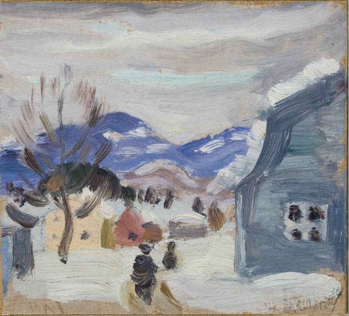 Jean Palardy St. Urbain, 1937 (March-April) Oil on panel 3 7/8 x 4 in 9.8 x 10.2 cm