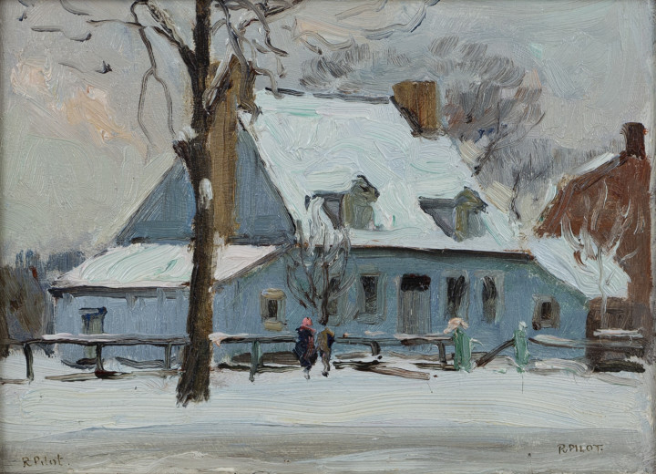 Robert Pilot Winter, Country House Oil on panel 6 1/4 x 8 5/8 in 15.9 x 21.9 cm