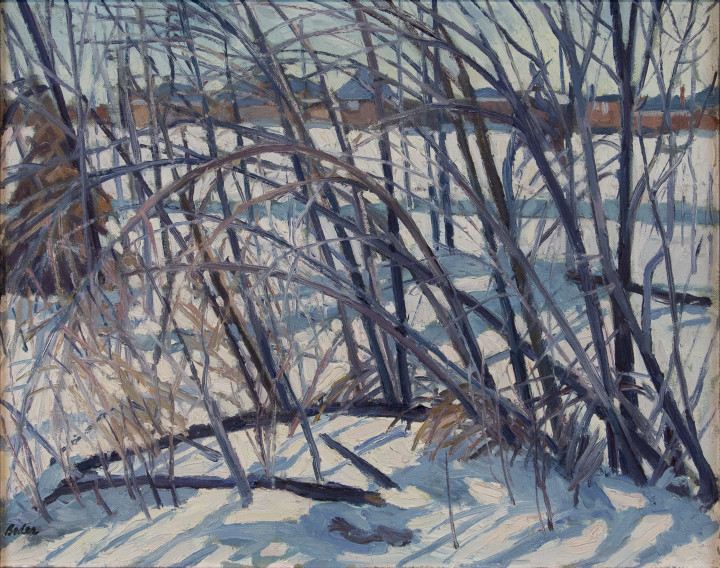 Jack Beder Tangle After Storm, 1961 Oil on canvas - Huile sur toile 16 x 20 in 40.6 x 50.8 cm