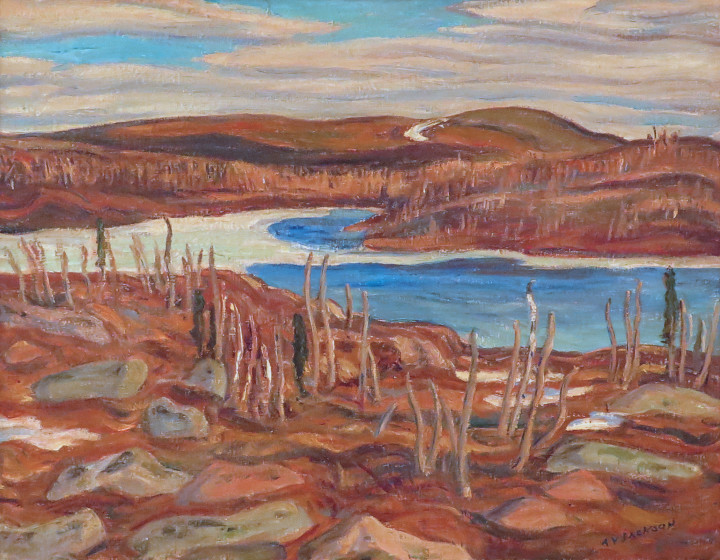 A.Y. Jackson Ruth Lake, Schefferville, Quebec, 1942 Oil on canvas - Huile sur toile 20 x 26 in 50.8 x 66 cm