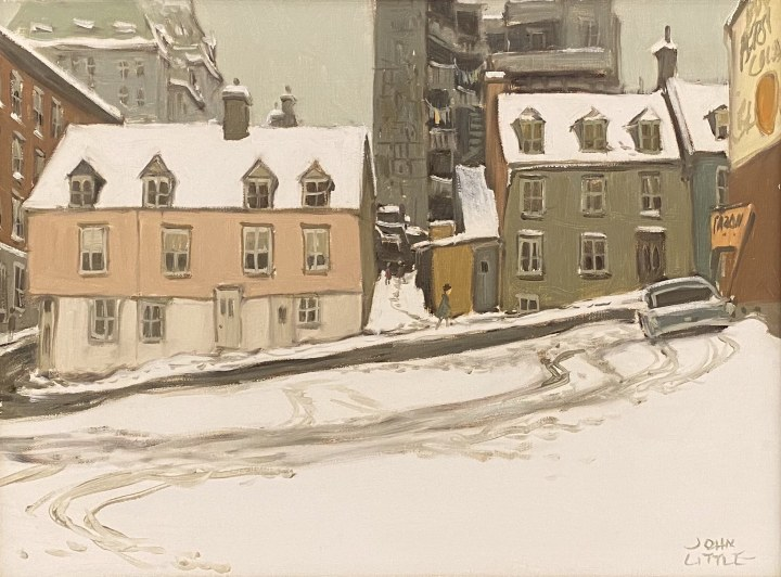 John Little Parking Lot Rue O'Connell Quebec, 1968 Oil on canvas 12 x 16 in 30.5 x 40.6 cm