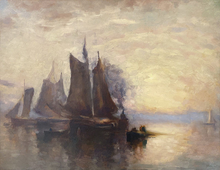 John A. Hammond Fishing Boats, Bay of Fundy Oil on board 28 1/4 x 36 1/2 in 71.8 x 92.7 cm