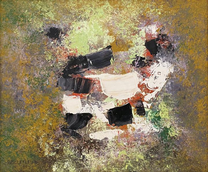 Léon Bellefleur, Abstraction, 1974