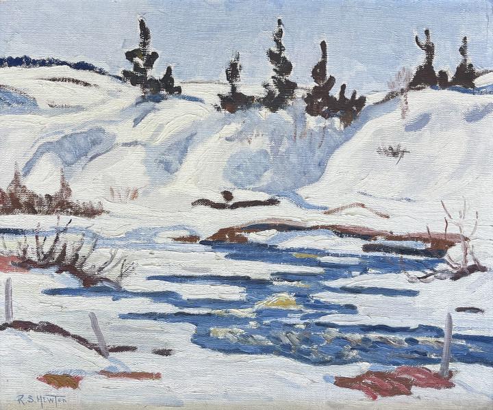 Randolph S. Hewton Spring, Charlevoix Co., 1930 (circa) Oil on canvas 20 x 24 in 50.8 x 61 cm
