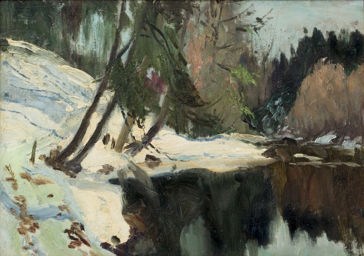Maurice Cullen, Laurentian Backwater on the Caché River, 1922 (circa)