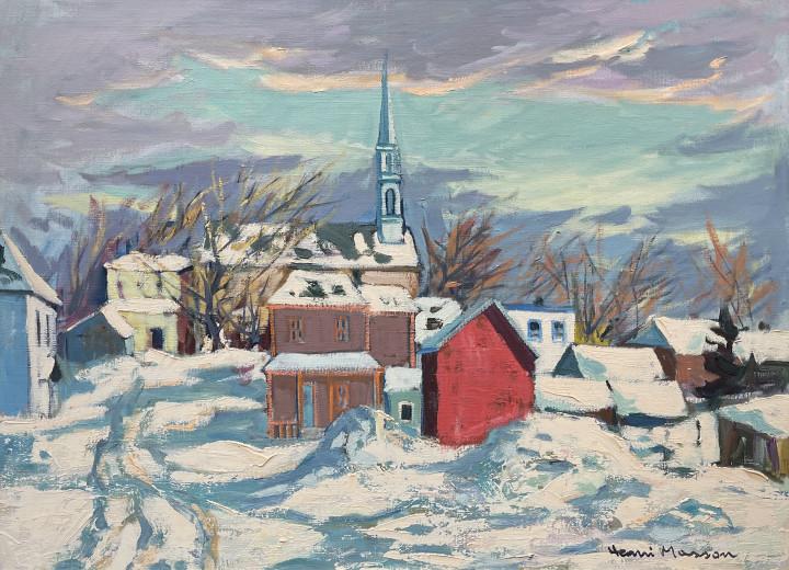 Henri L. Masson Hiver à Perkins Oil on canvas 24 1/8 x 32 1/8 in 61 x 81.5 cm