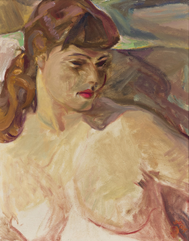 Frederick H. Varley Portrait of Nancy, 1948 (Toronto) Oil on canvas 20 x 16 in 50.8 x 40.6 cm