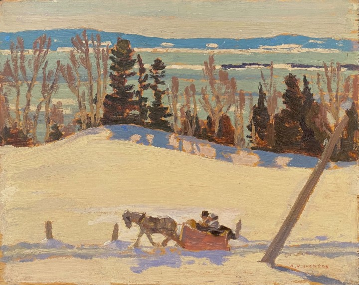 A.Y. Jackson Les Eboulements, 1923 Oil on wood 8 1/2 x 10 1/2 in 21.6 x 26.7 cm