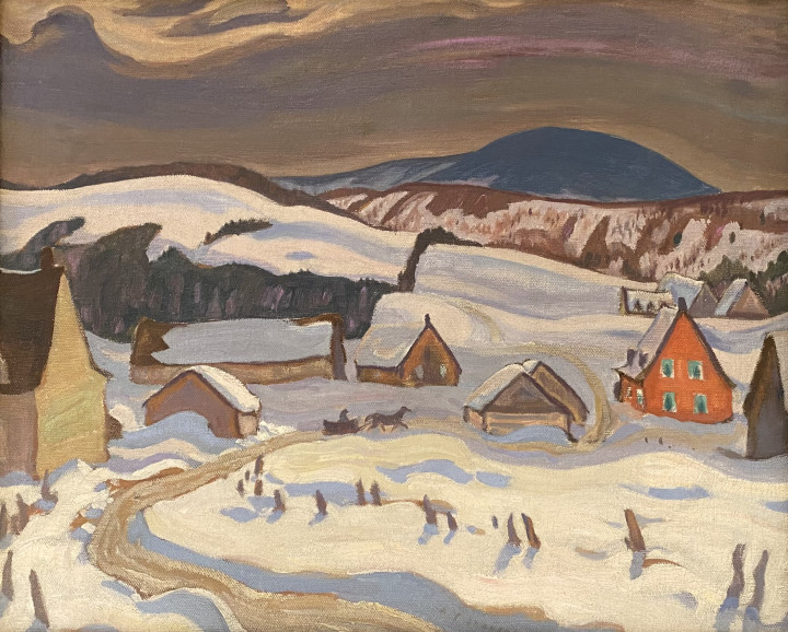 A.Y. Jackson Winter Baie St. Paul, 1928 Oil on canvas 21 x 26 in 53.3 x 66 cm