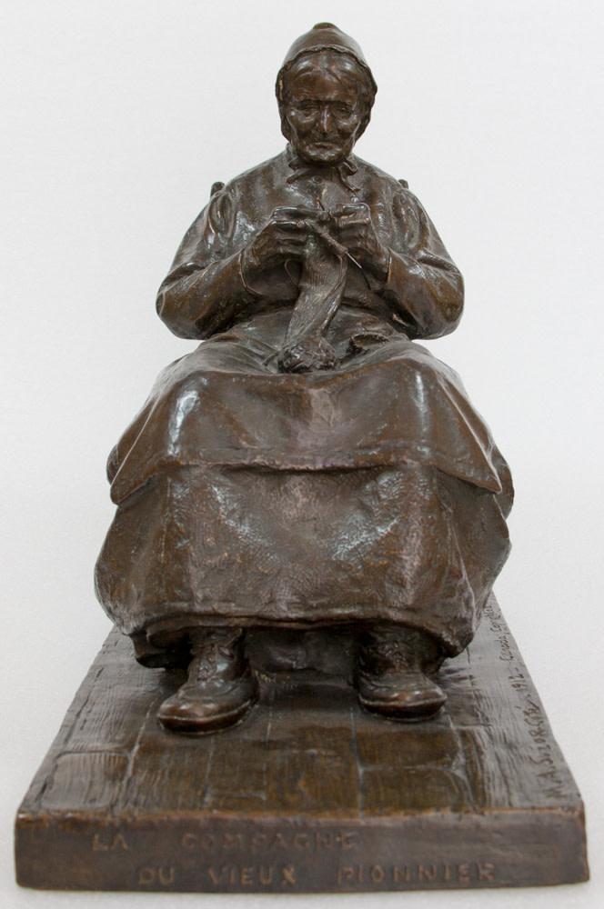 Marc-Aurèle Suzor-Coté La compagne du vieux pionnier canadien, 1912 Bronze - Bronze height 15 1/4 in height 38.7 cm