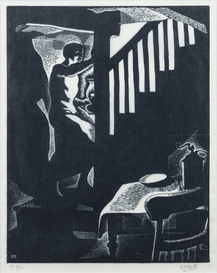 Edwin Holgate The Stairway, 1930 Woodcut 9 1/2 x 7 1/2 in 24.1 x 19.1 cm 18/30