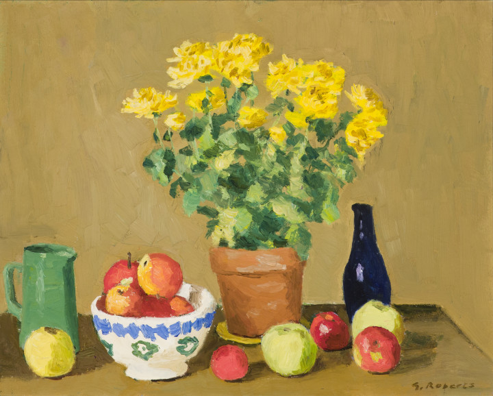 Goodridge Roberts Yellow Plant, 1952 Oil on masonite 16 x 20 in 40.6 x 50.8 cm