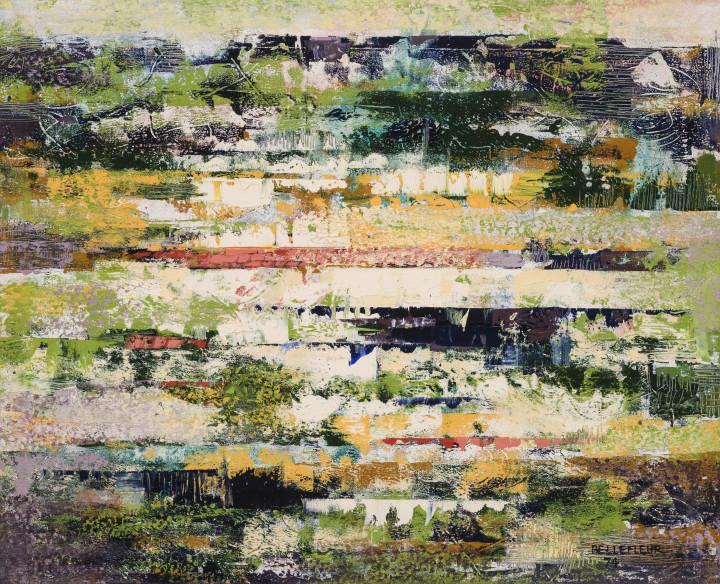 Léon Bellefleur S/RICHELIEU, 1974 Oil on canvas 26 x 32 in 66 x 81.3 cm