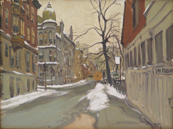 John Little St. Mathieu Street at Dorchester, 1967 Oil on canvas board 12 x 16 in 30.5 x 40.6 cm