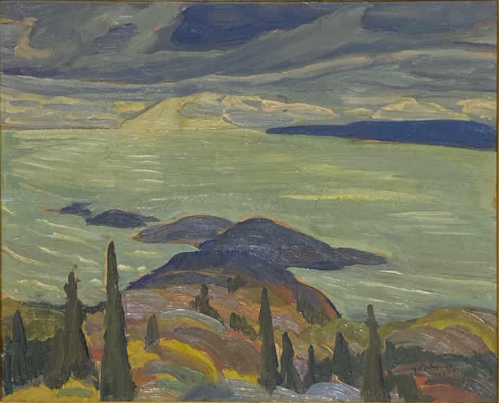 Yvonne McKague Housser Lake Superior, 1928 Oil on panel 10 1/2 x 12 in 26.7 x 30.5 cm