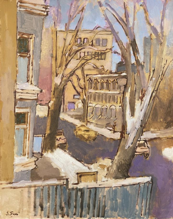 John Fox Montreal Street, 1959 Oil on linen 30 x 24 in 76.2 x 61 cm