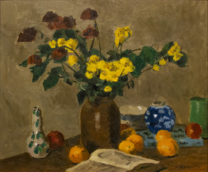 Goodridge Roberts Still Life with Bouquet Oil on masonite - Huile sur isorel 20 x 24 in 50.8 x 61 cm