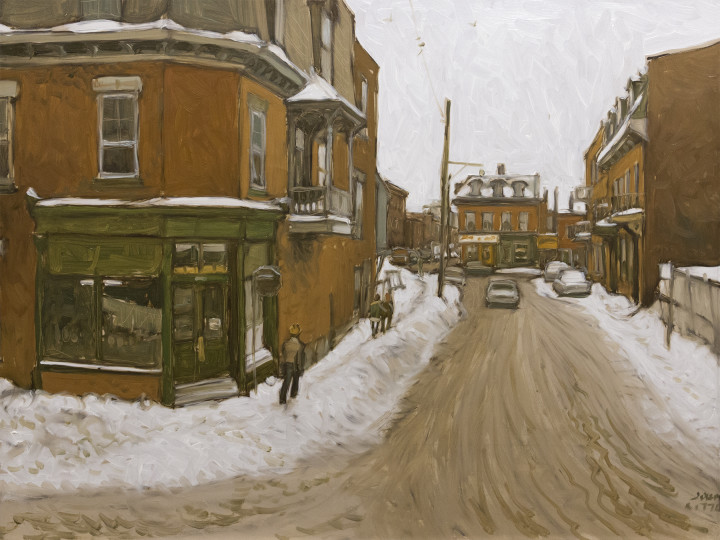 John Little, R.C.A., Rue Charlevoix Looking South from Workman to Notre-Dame, 2005
