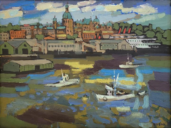 Bruno Bobak Victoria, 1968 oil on canvas 30 1/4 x 40 1/4 in 76.8 x 102.2 cm