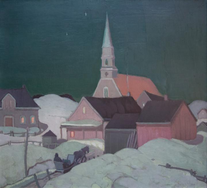 Albert H. Robinson Moonlight, St. Fidèle - Clair de lune, Saint-Fidèle, 1925 Oil on canvas - Huile sur toile 22 x 26 in 55.9 x 66 cm