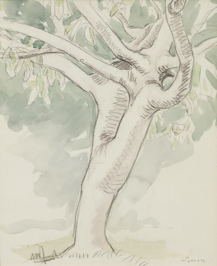 John Lyman 1886-1967Bermude, 1919 signed 'Lyman' (recto, lower right) Watercolour on paper 11 x 9 in 27.9 x 22.9 cm