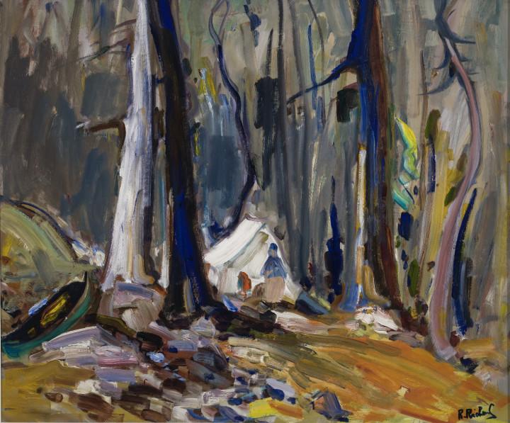 René Richard Campement Indien dans les brûlés, nord ouest, 1960 (circa) Oil on masonite 26 x 30 in 66 x 76.2 cm