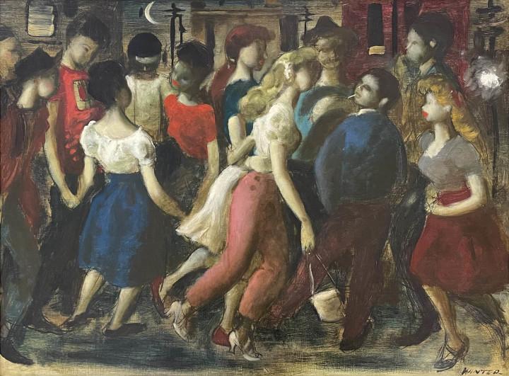 William Winter La Guinguette Oil on board 20 7/8 x 27 3/8 in 53 x 69.5 cm