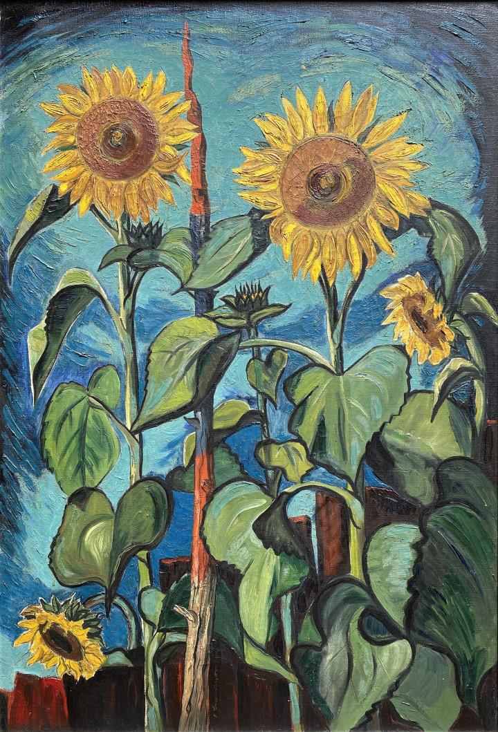 Friedrich Wilhelm (Fritz) Brandtner Sunflowers, 1936 (circa) Oil on canvas 36 x 28 in 91.4 x 71.1 cm