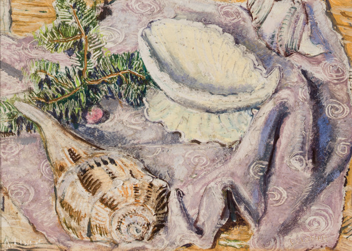 Arthur Lismer Sea Shells, N.S Oil on panel 6 x 9 in 15.2 x 22.9 cm