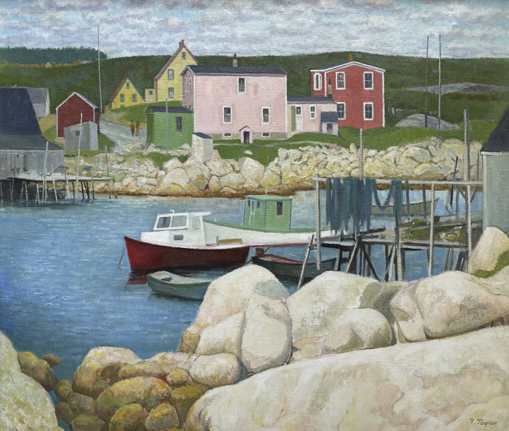 Frederick B. Taylor Overlooking Middle Cove, Indian Harbour, Nova Scotia, 1977 Oil on canvas 26 x 32 in 66 x 81.3 cm