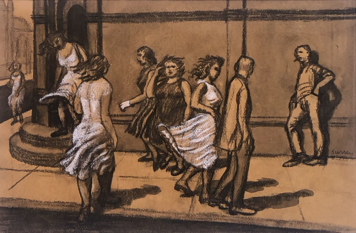 Philip Surrey Rue Notre Dame, 1953 (circa) Mixed media 12 x 18 in 30.5 x 45.7 cm