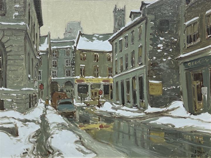 John Little Place Royale, Rue St. Paul, Montreal, 1965 Oil on canvas board 12 x 16 in 30.5 x 40.6 cm