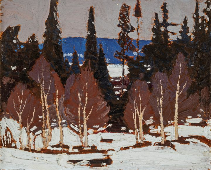 Tom Thomson Early Spring, Algonquin Park, 1917 (Spring) Oil on board 8 1/4 x 10 1/2 in 21 x 26.7 cm This work is included in the Tom Thomson, Catalogue Raisonné, published by Joan Murray, no. 1917.05, https://www.tomthomsoncatalogue.org