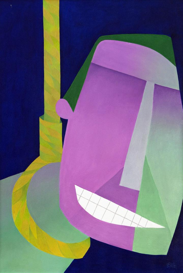 Claude Le Sauteur L'humour noir - Dark Humour, 2005 Oil on canvas - huile sur toile 33 1/2 x 23 1/2 in 85.1 x 59.7 cm