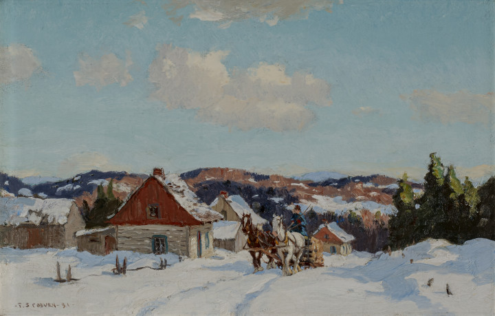 Frederick Simpson Coburn Returning with Wood, 1931 Oil on canvas 13 x 20 in 33 x 50.8 cm