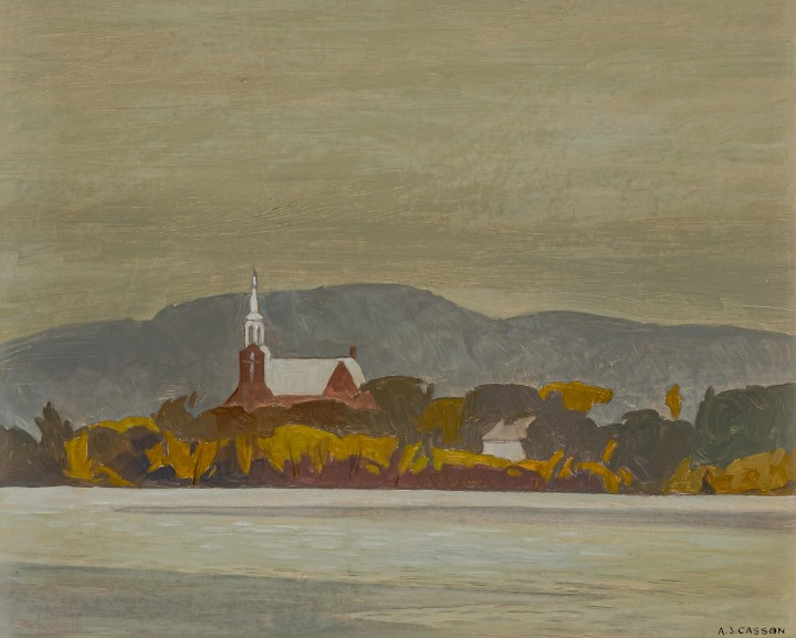 A.J. Casson Church at Grenville (Quebec), 1971 Oil on board 12 x 15 in 30.5 x 38.1 cm