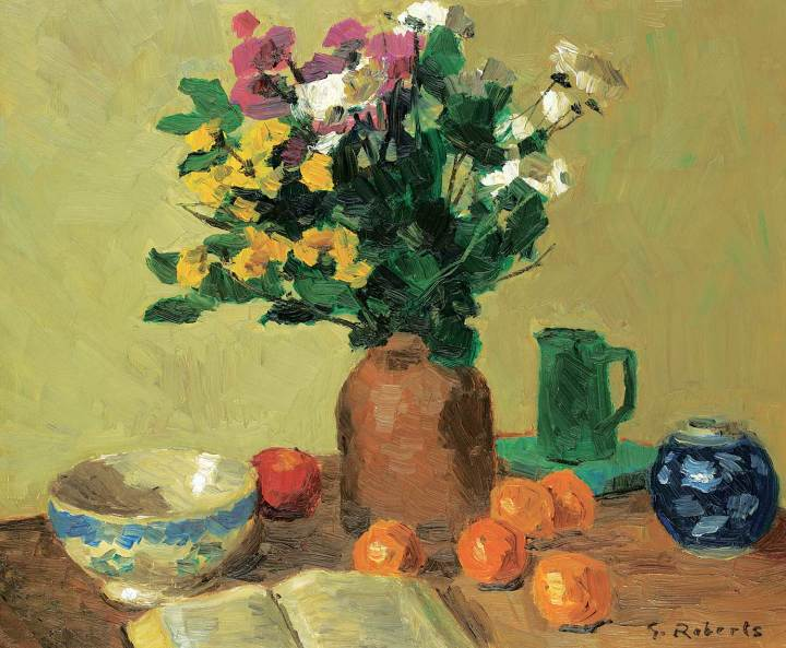 Goodridge Roberts Still Life with Tabletop Oil on hardboard 20 x 24 in 50.8 x 61 cm