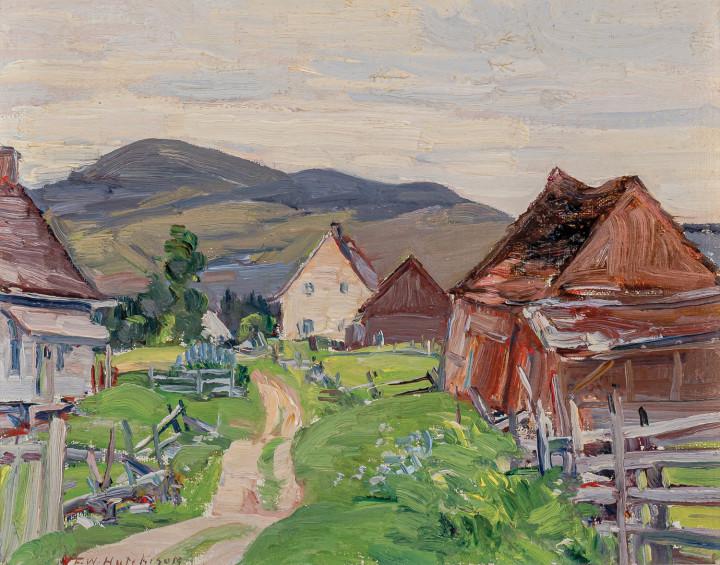 Frederick W. Hutchison Summer, St-Urbain, 1925 (circa) Oil on panel 8 x 10 in 20.3 x 25.4 cm