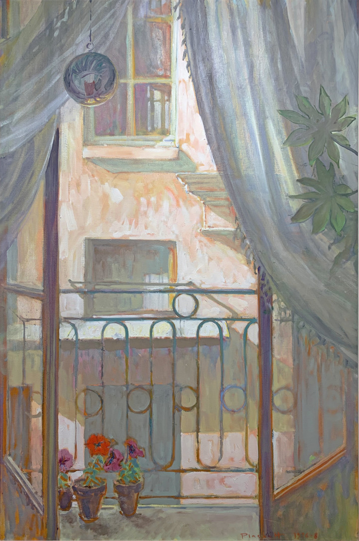 Joseph Plaskett View from a Window, 1976 - 1978 Oil on canvas - Huile sur toile 39 1/4 x 25 1/2 in 99.7 x 64.8 cm