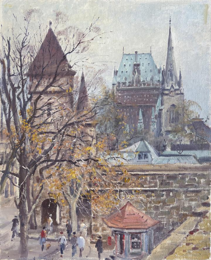 Robert Pilot Porte Saint-Louis, Quebec, 1955 (circa) Oil on canvas 22 1/8 x 18 1/8 in 56.2 x 46 cm