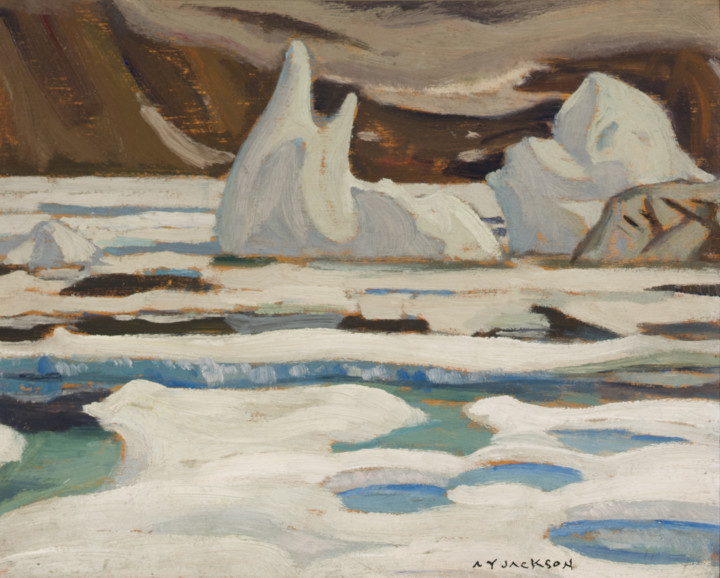 A.Y. Jackson Craig Harbour, Ellesmere Island, 1927 Oil on wood 8 1/2 x 10 1/2 in 21.6 x 26.7 cm