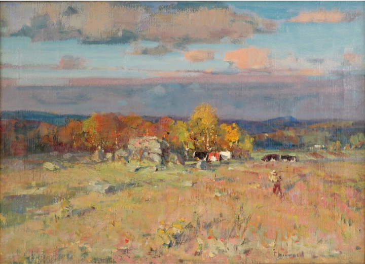 Franklin Brownell Autumn, 1903 (circa) Oil on canvas - Huile sur toile 16 x 22 1/4 in 40.6 x 56.5 cm